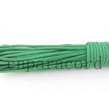 Green polyester parachute cord 550lbs 100ft