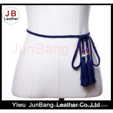Microfiber Braided Belt with Tassel for Women Dress