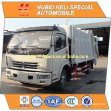 DONGFENG 4x2 pequeño 6cbm comprimió la venta caliente del carro 140hp de la basura para la exportación