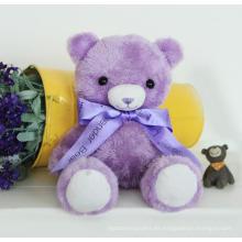 Regalos de juguete de los niños Hermoso color púrpura peluche Teddy Toy Bear