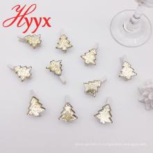 HYYX gros Made en Chine blanc clip de pièces de décoration de noël