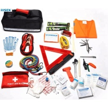 Private label capacity storge assistance car travel first aid auto emergency roadside kit