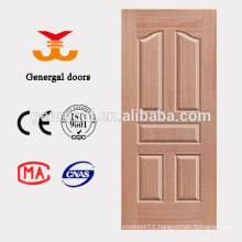 Interior cheap 6 raised panel HDF moulded door leaf