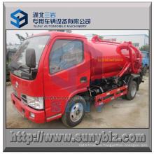 4 M3 Rhd Dongfeng Vacuum Tanker alcantarillado camión de succión