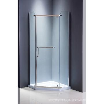 Tela de chuveiro de vidro de diamante Quarto de chuveiro simples