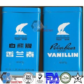 Preço de ingredientes alimentares de etil vanilina