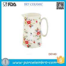 Red Flower Juice Milk Breakfast Kitchen 14cm Water Jug