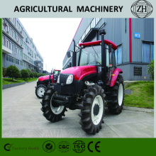 90HP Four Wheel Drive Farm Tractors Dengan Kabin