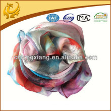 100% silk lady 8mm printed chiffon scarf