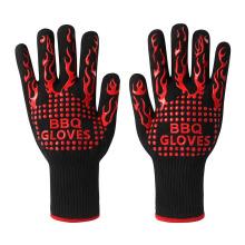 Mitaines de four d'Aramid de prix d'usine, gants résistants à la chaleur extrêmement chauds de four de gril de BBQ de 500 degrés