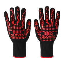 Factory Price Aramid Oven Mitts, 500 Degrees Extreme Heat Resistant BBQ Grill Oven Gloves