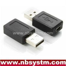 Adaptador USB macho a mini 5 pines hembra
