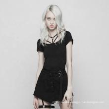 OPT-252 PUNK RAVE Dark series  t-shirt Tight 100% cotton t-shirt women casual clothes