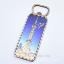 wholesale personalized popular kitchen use Shanghai Oriental Pearl magnetic bottle opener for refrigerator