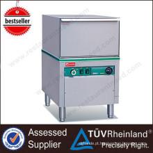 Restaurante profissional Poltrona de vidro e máquina de lavar louça Máquina de lavar louça comercial usada
