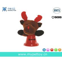 Presente do Natal do cão do brinquedo dos cervos