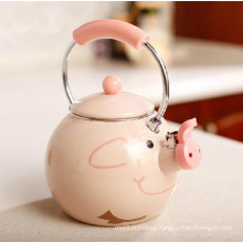2015 High Grade Popular Enamel Pig Kettle