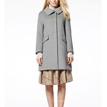 17PKCSC010 mulheres dupla camada 100% casaco de lã de caxemira