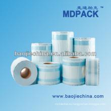 Esterilización rollo de papel rollo de plástico bolsa