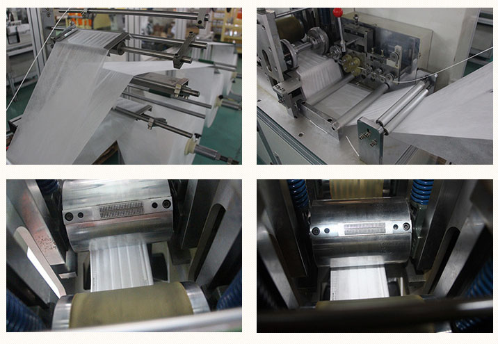 Parts of nonwoven face machine