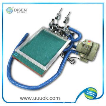 Vacuum flat silk screen printer