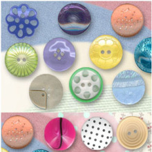 New design fashion big cute polyester buttons wholesale