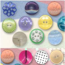 Nuevo diseño moda lindo poliester botones grandes por mayor
