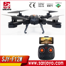 Newest 2.4G 4CH Foldable Drone WiFi FPV HD Camera RC Quadcopter With Air Press Altitude Hold Mini Drone SJY-F12W
