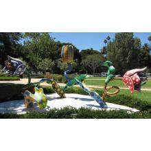 décoration de jardin artisanat en métal sculptures contemporaines de fleurs à vendre