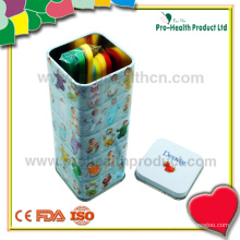 Destilador de linguagem de plástico estéril descartable médico com caixa de lata