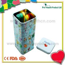 Медицинский одноразовый стерильный пластиковый язычный депрессор с оловянной коробкой
