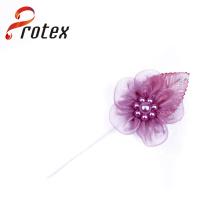 Promoção Organza Ribbon Handmade flores para vestuário