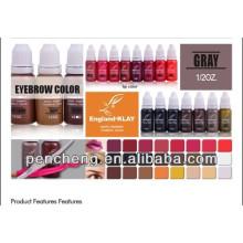 Tinta de maquiagem profissional permanente para sobrancelha / lábio e insumos de tinta de maquiagem permanente
