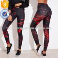 Las polainas impresas multicoloras de la impresión OEM / ODM fabrican la ropa al por mayor de las mujeres de la manera (TA7038L)