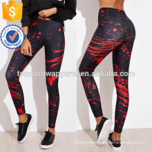 Multicolor Abstract Print Leggings OEM/ODM Manufacture Wholesale Fashion Women Apparel (TA7038L)