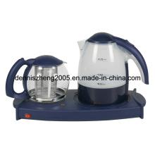 Bandeja de fabricante eléctrico té con hervidor de agua 1,7 L y 1.4L tetera