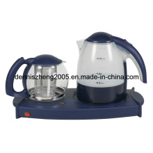 Electric Tea Maker Tray with 1.7L Kettle and 1.4L Tea Pot