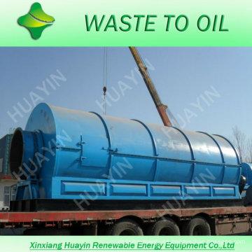 Respetuoso del medio ambiente uesd goma y máquina de pryolysis de plástico con CE
