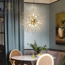 Modern Crystal Brass Chandelier Led For Bedroom