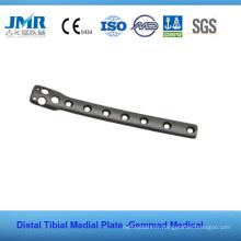 Plaque de plate-forme tibiale à implantation orthopédique aux traumatismes métalliques