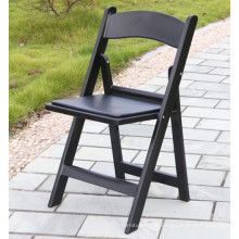 Cadeira de plástico para jardim ao ar livre preta para eventos