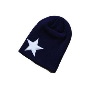 New Design Navy Long Knitted Beanie
