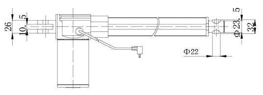 ZQTG07 dc linear actuator / dimension