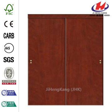 Flush Solid Core Cherry MDF Sliding Door