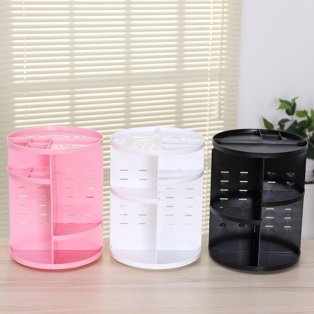 Plastic 360 Degree Rotating Makeup Organizer