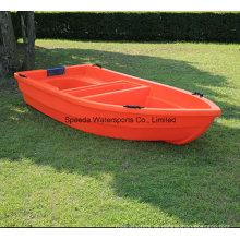 Pesca chinês pequeno barco PE duro de plástico Motor barco