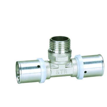 Press Fittings of Male Tee for Aluminium Plastic Pipe