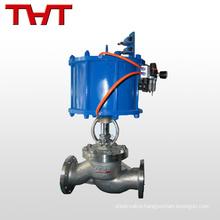 pneumatic flow direction control globe valve