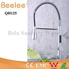 China Sanitary Ware Pull-Down Spray agua fría y caliente cromado latón primavera cocina grifo