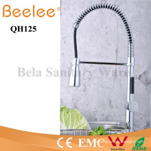 China Sanitary Ware Pull-Down Spray Cold and Hot Water Chromed Brass Spring Kitchen Faucet